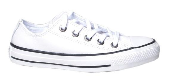 Tênis Casual Em Couro All Star Converse Branco
