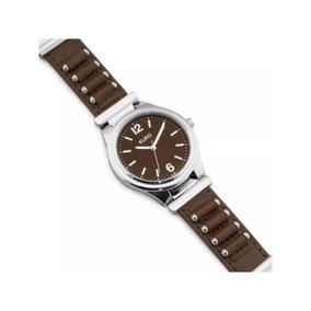 Relógio Euro Feminino Prata/marrom Eu2035yky/3m