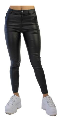 Pantalon Engomado Mujer Tiro Alto Chupin Negro Mercado Libre