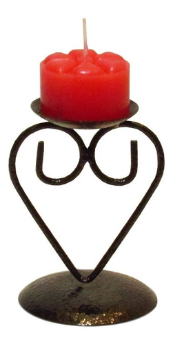 Imagem 1 de 4 de 1 Castiçal Coração Vela Romântico Jantar Dia Dos Namorados