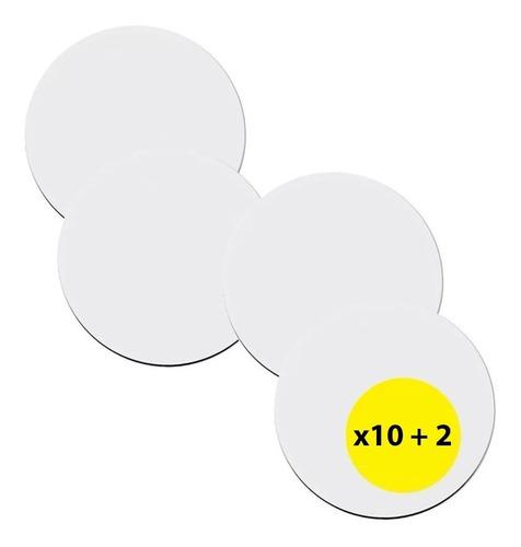 Posavasos Para Sublimar - Blancos  9,5 Cm X10u + 2u