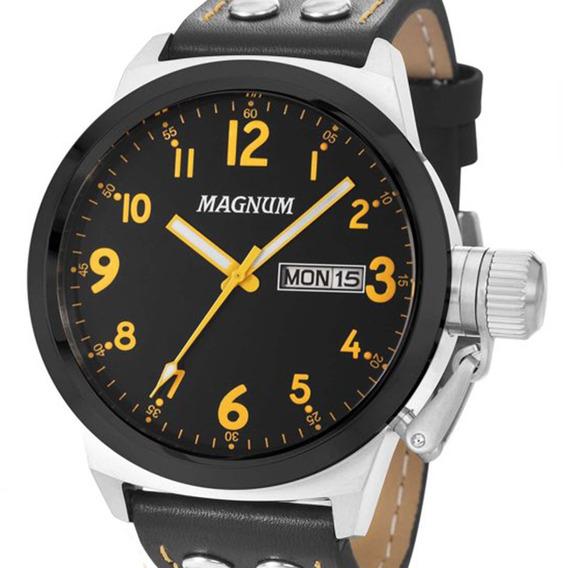 Relógio Magnum Masculino Couro Ma32774j Original C/ Nf