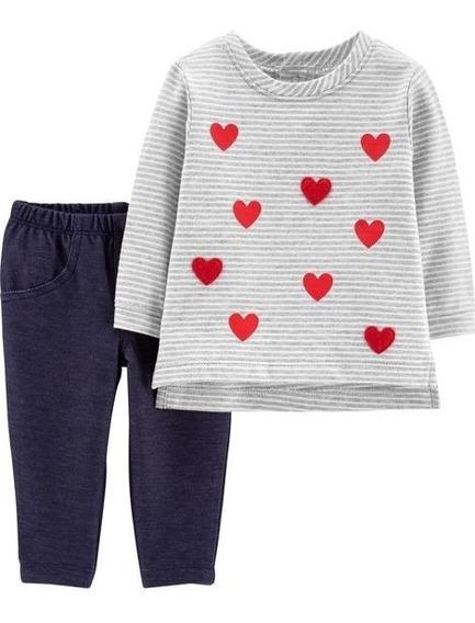 Conjunto Frio Carters Calça Jeans Legging + Blusa 3 Meses