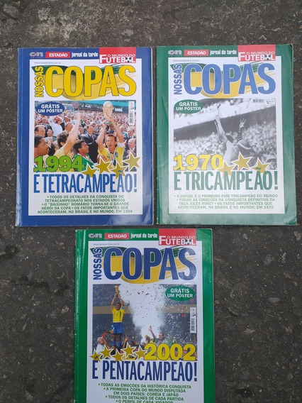 Kit 3 Revista Copas Anrigas + Poste Grátis