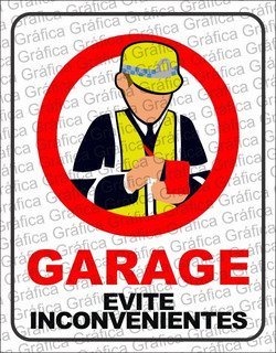 Cartel Evite Multas - Estacionamiento