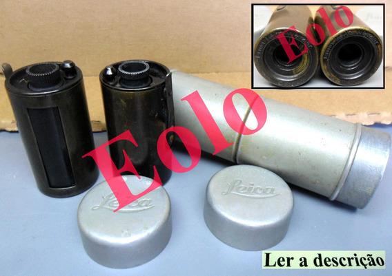 Leica - Magazine Duplo 2 Filmes 35mm - Raro Original Leitz &