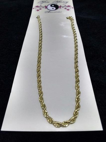 Cordão Baiano 3583 - Folheado A Ouro