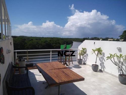 Cobertura Com 4 Dormitórios À Venda, 180 M² Por R$ 750.000 - Buraquinho - Lauro De Freitas/ba - Co0111