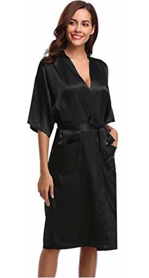 Aibrou Bata Kimono Para Mujer De Larga Clásica