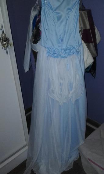 Vestido De 15 Años En Color Celeste