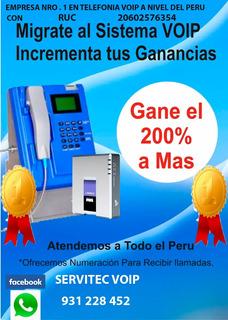 Recargas Voip Telefono Monedero Publico 200% Ganancia Real