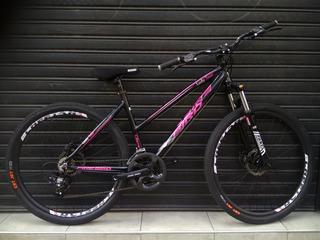 Bici De Aluminio Rodado 27.5 Con Frenos D Disco Y Suspensión