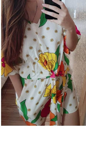 Conjunto Feminino Blusa Shorts Femininos Luxo Plusize Verão