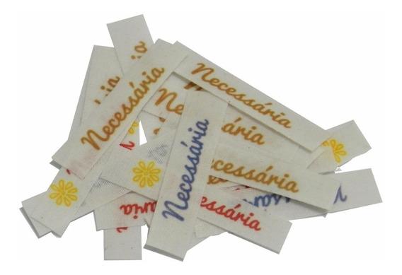 Etiqueta Tecido Algodão Personalizada - 4,5x1cm - 100und