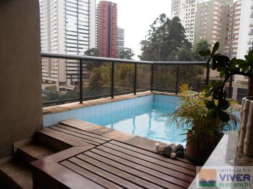 Imagem 1 de 15 de Morumbi-penthouse Com Piscina E Churrasqueira - Nm3198