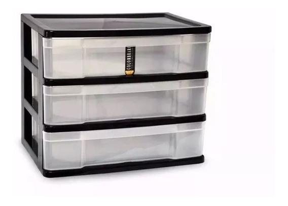 Bandeja Plastica Organizador Papel Apilable Oficina 3 Cajon