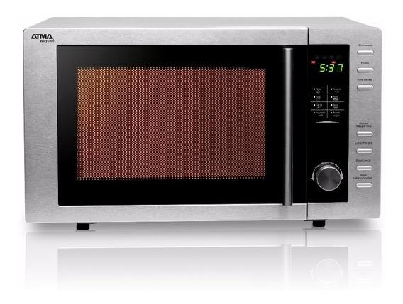Microondas Digital Acero Inox 23l Grill Atma Md923gn