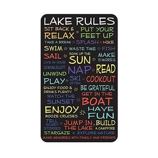 Reglas Lago Sesión: 18x30. En La Placa De Madera Decorativa