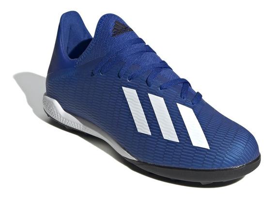 Botines adidas Futbol X 19.3 Tf Futbol 5 Azul/blanco