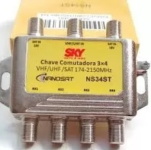 Chave Sky 3x4 Podendo Substituir Diseqc Diplexer