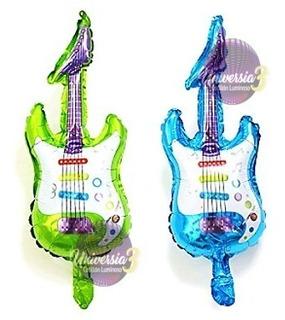 1 Globo Guitarra 44cm Cotillon Combo Souvenirs Candy Bar