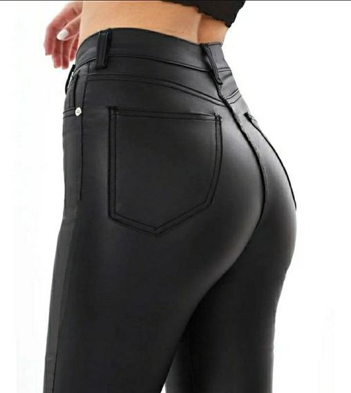Pantalon Engomado Opaco Tiro Alto Elastizado Bora