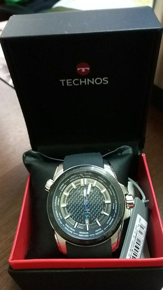 Relógio Technos Hora Mundi Masculino Prata.