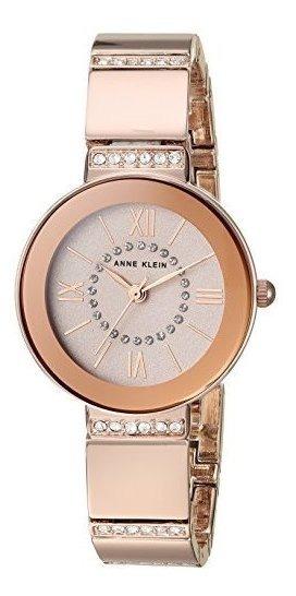 Relógio Analógico Anne Klein Swarovski Crystals 3190-rgrb Feminino - Rosa Ouro
