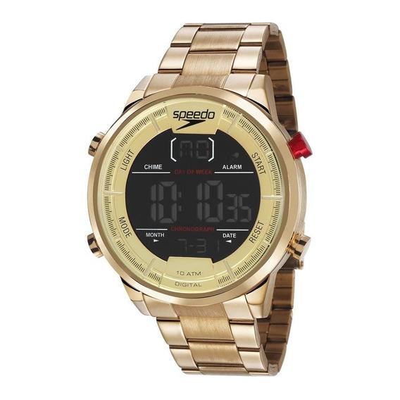 Relógio Speedo Masculino Ref: 15005gpevds1 Big Case Dourado