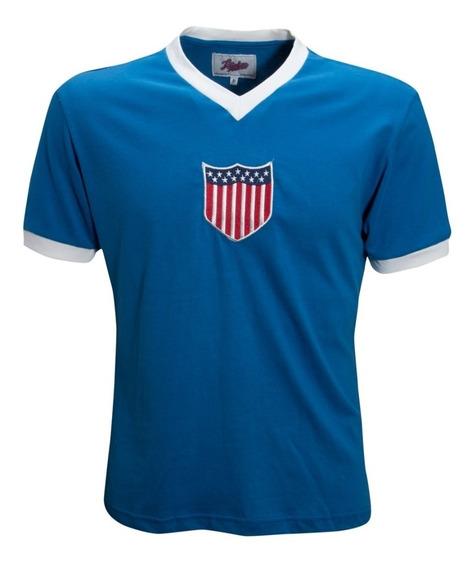 Camisa Retro Estados Unidos 1934 Seleção Usa Ligaretro