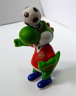 Mario Bros Gashapon Yoshi Cabeceando Manchester United Mu