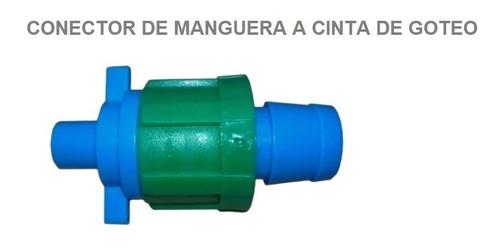 Conector Manguera De Riego A Cinta De Goteo X 10 Unds