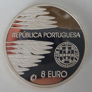 Moneda Portugal Año 2005 Conmemorativa 8 Euro Ag 0.925 Proof