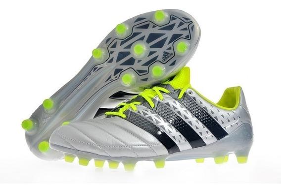 Chuteira adidas Ace 16.1 Fg Leather Silver/volt #45 Nova