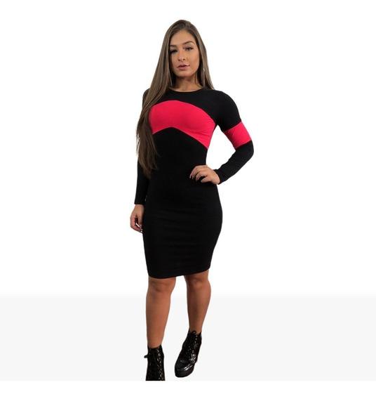 Vestido Medio Instagram Feminino Sem Bojo Faixa + Brinde71