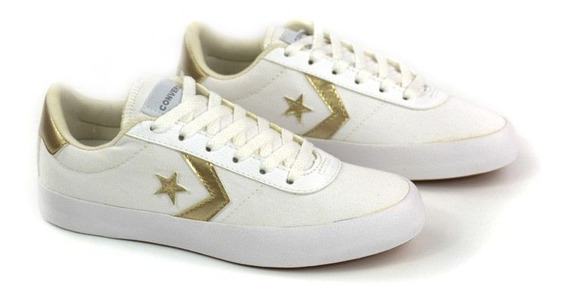 E Tenis Co02460001 Point Star Branco/ouro All Star 20837