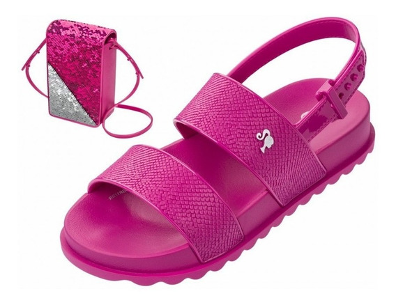 Sandália Barbie Infantil Magic Bag 21632 - Pink