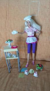 Barbie Cheff Con Todos Los Accesorios