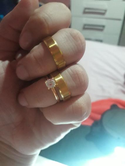 Unidade Aliança Banhada A Ouro 18 K Direto De Fábrica