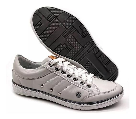 Sapatênis Sapato Casual America Bmbrasil Couro Palmilha Gel