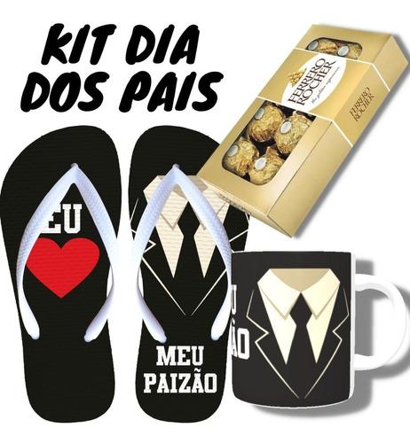 Kit Presente Dia Dos Pais Barato Chinelo, Caneca E Chocolate