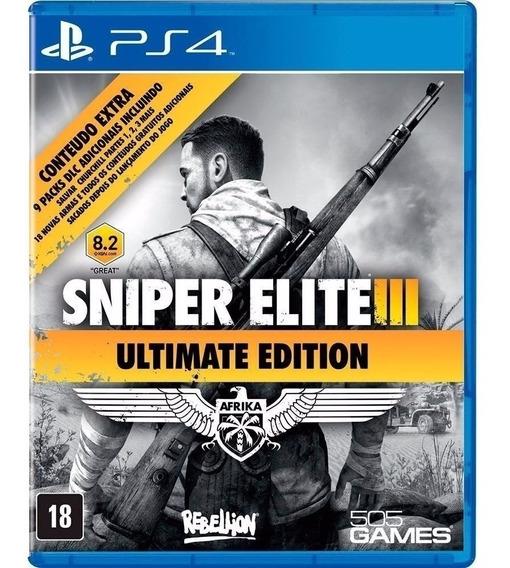 Sniper Elite 3 Iii + 9 Dlc - Jogo Ps4 Original Midia Fisica