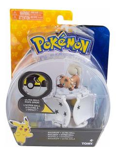 Pokemon Con Pokebola Figura Y Pokebola Original Tomy
