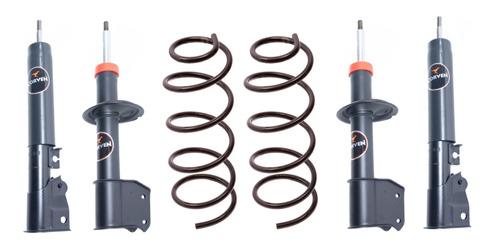 Amortiguador Kit X4 Fiat Duna Uno Fire Mas Espirales