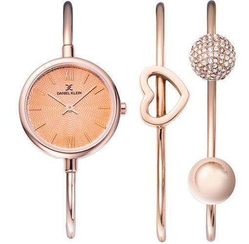 Relógio Analógico Daniel Klein Gift Set Dk12032-2 + Pulseira