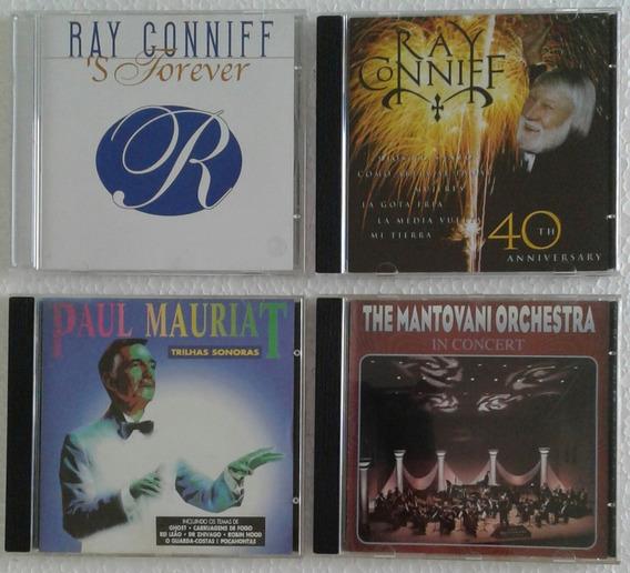 Ray Conniff / Paul Mauriat / Mantovani - 04 Cds-orquestras