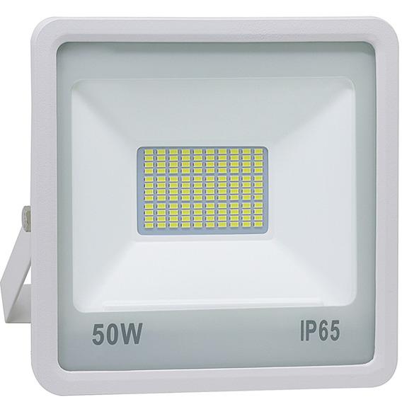 Refletor De Led 50w Smd Branco - Luz Branca Fria 6000k | Le