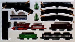 Juguete Tren A Pila Sonido Luz 1 Locomotora 4 Vagones 29vias