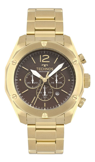 Relógio Technos Masculino Skymaster Dourado Os20hmf/4m