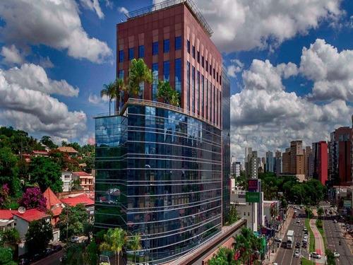 Sala Comercial Para Locação Com 184 Metros E 03 Vagas. Localizado Na Avenida Norte E Sul, Edifício Trade Tower. Valor Da Locação R$ 12.000,00. - Sa00204 - 69419142